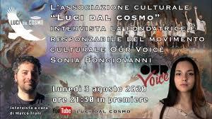 Intervista alla fondatrice e responsabile del movimento culturale OUR VOICE  Sonia Bongiovanni - YouTube